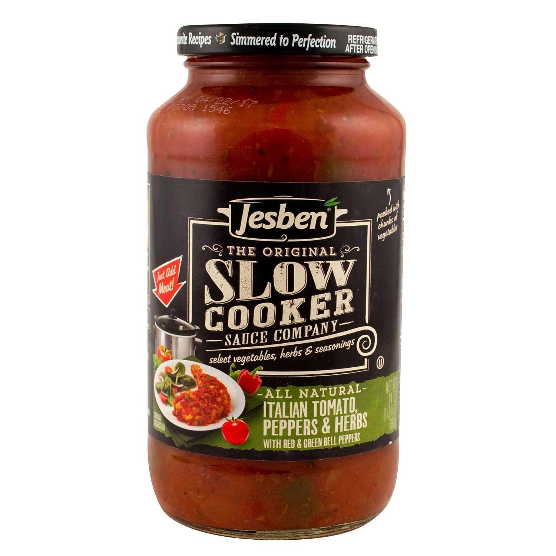Jesben Slow Cooker Sauce Italian Tomato, Peppers & Herbs 24 oz