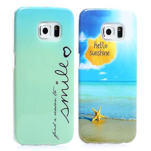 14 opinioni per tinxi® 2*Custodia case in silicone per Samsung Galaxy S6 Edge case cover