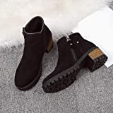 FORUU Women Boots Rivets Shoes Martain Boots
