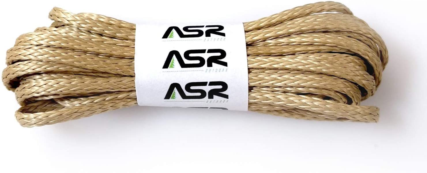 ASR Outdoor Braided Technora 950lb Emergency Survival Cord Rope, 50 feet Natural