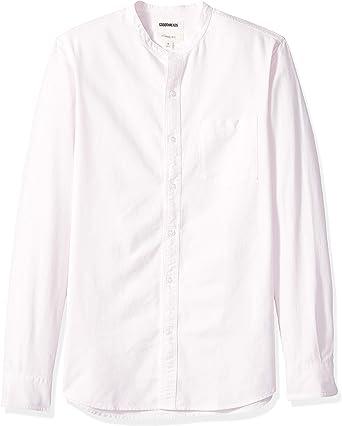 Marca Amazon - Goodthreads – Camisa Oxford con cuello en banda de manga larga de corte entallado para hombre: Amazon.es: Ropa y accesorios