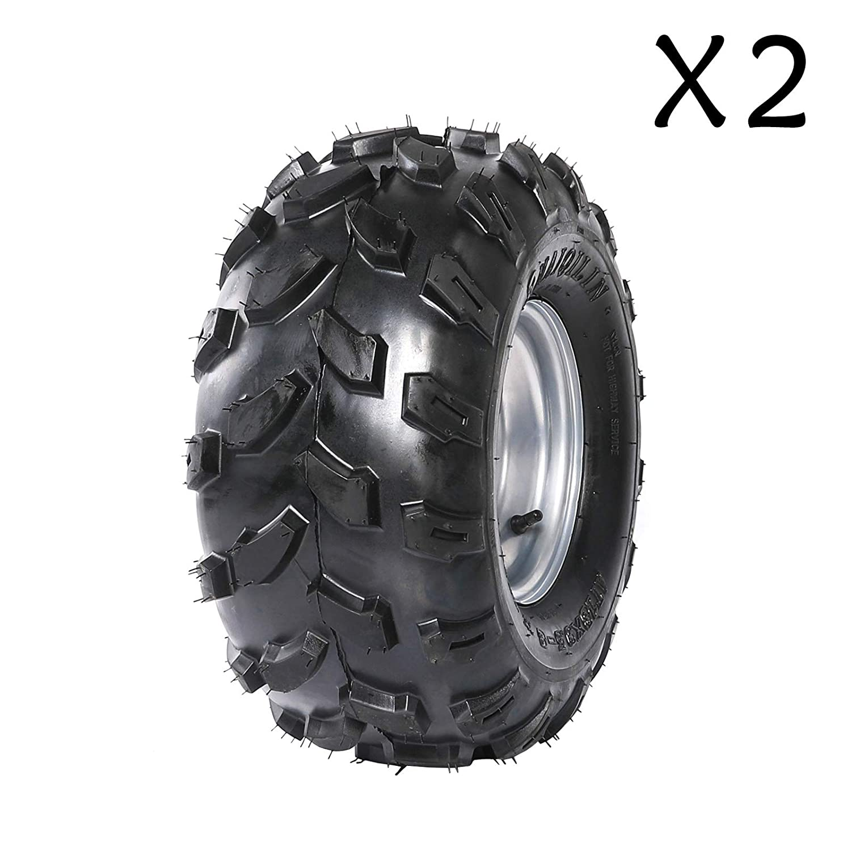 Amazon.com: ZXTDR - Pack de 2 neumáticos ATV Go Kart, 18 x 9 ...