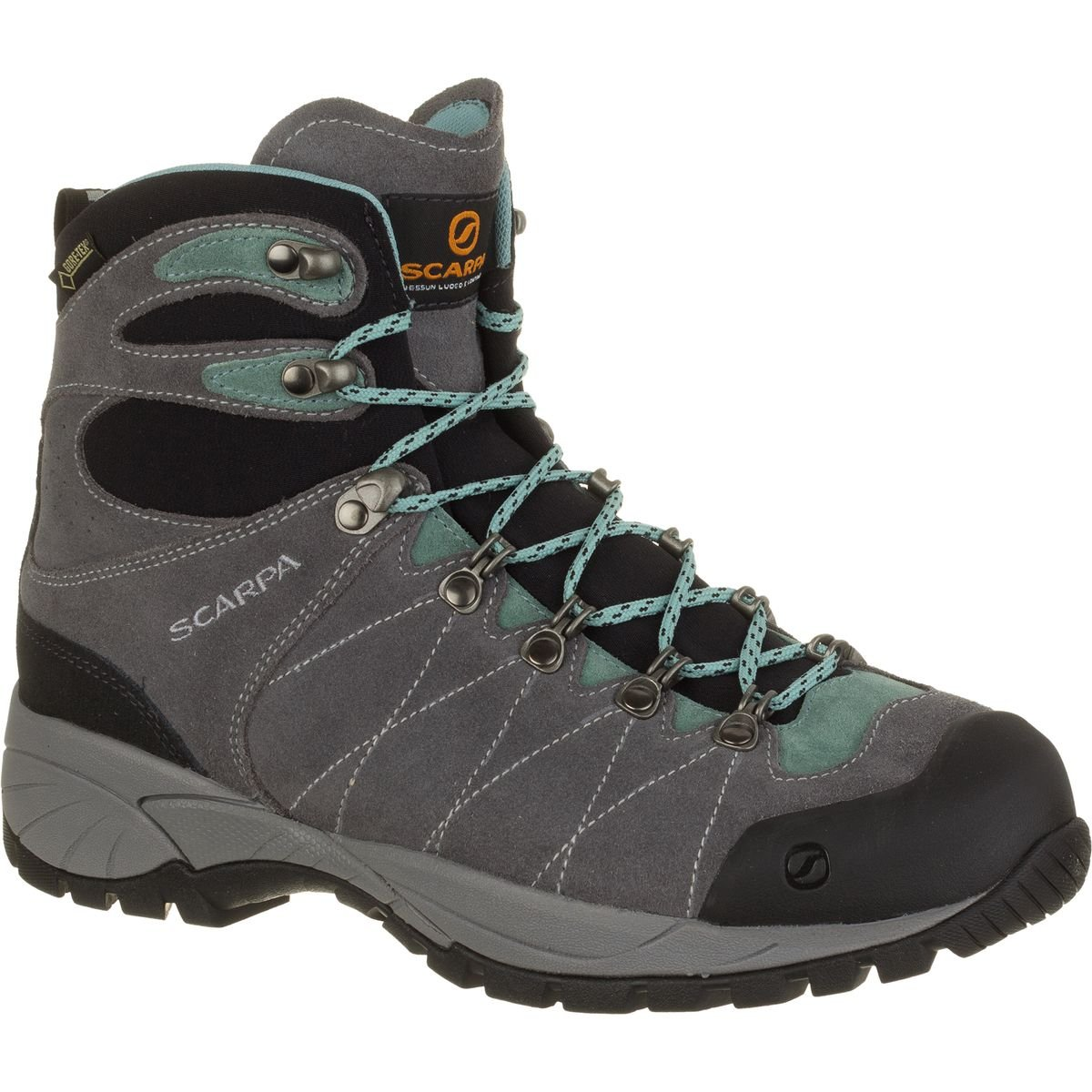 SCARPA Women's R-Evolution GTX Wmn Hiking Boot, Smoke/Jade, 37 EU/6 M US