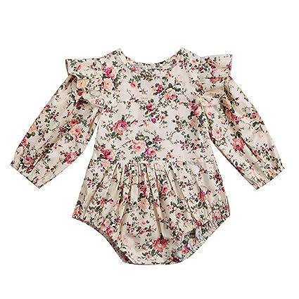 feiXIANG Black Five Cyber Monday Ropa para bebés recién Nacidos Imprimir Jumpsuit Hafu Ruffled Jumpsuit Ropa