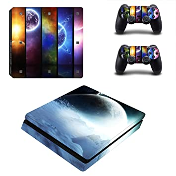 Faceplates, Decals & Stickers Just Ps4 Slim Sticker Console Decal Playstation 4 Controller Vinyl Skin Earth A Wide Selection Of Colours And Designs Video Game Accessories