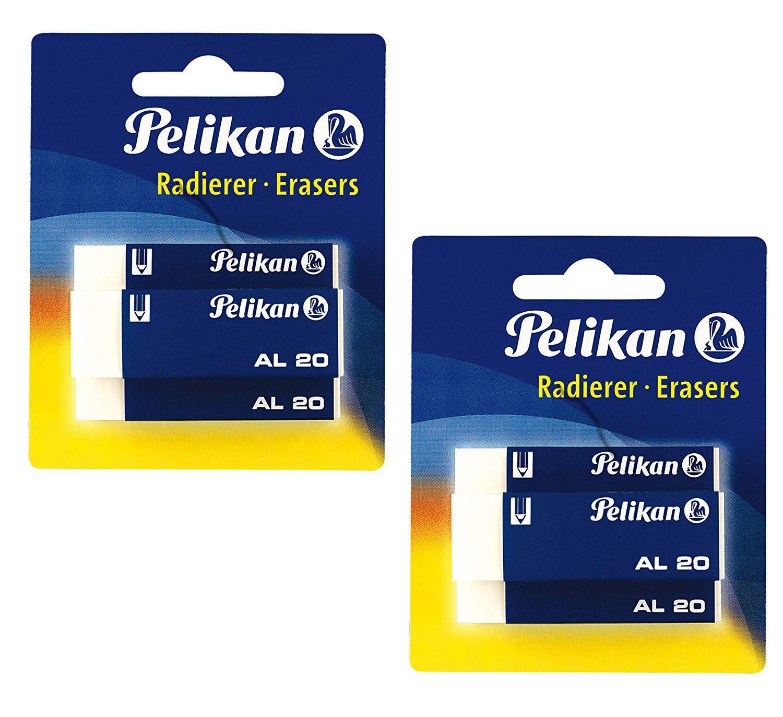 3 St/ück Pelikan 620112 Kunststoff-Radierer AL20