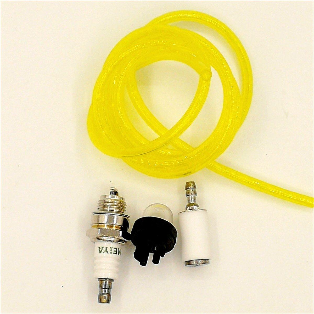 Shioshen Primer bulbo Carburante Tubo Linea Filtro Candela Kit per Husqvarna artigiano Motosega McCulloch Blower Trimmer