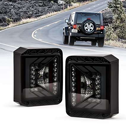 Jeep Wrangler Led Tail Lights >> Amazon Com Xprite Rival Series Led Tail Lights For Jeep Wrangler Jk
