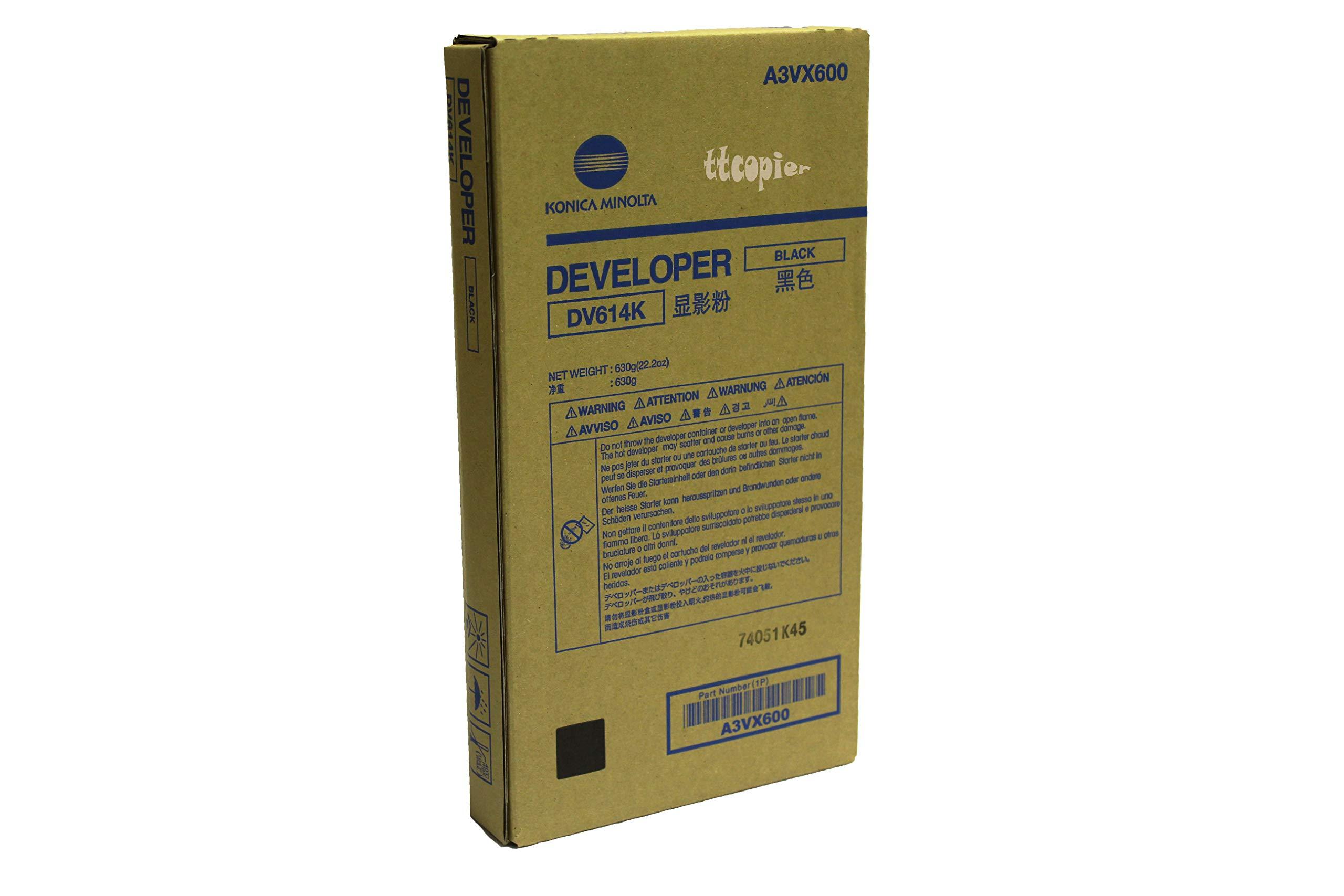Genuine Konica Minolta A3VX600 DV614K Black Developer for C1060 C1070