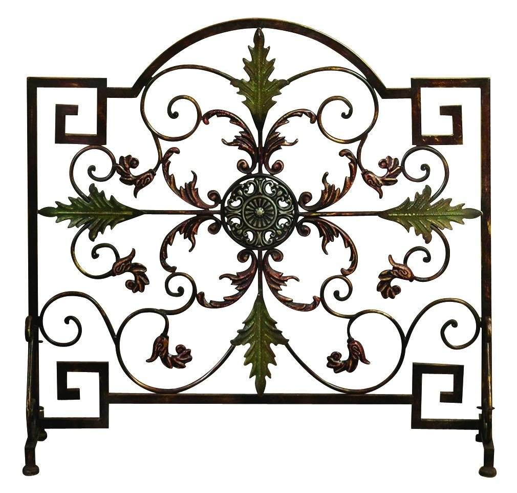 Amazon com  Deco 79 21634 Metal Fire Screen  Home   Kitchen. Metal Fireplace Screens. Home Design Ideas