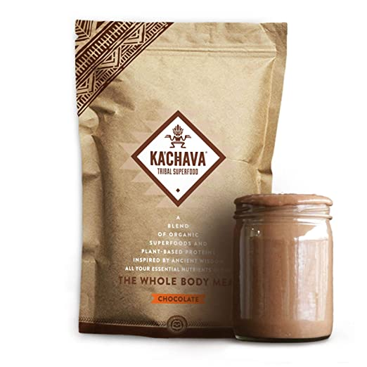 Amazon.com : Ka'Chava Meal Replacement Shake - A Blend of Organic Superfoods and Plant-Based Protein - The Ultimate All-In-One Whole Body Meal. (Chocolate) 930g Bag = 15 meals (62g serving size) : Grocery & Gourmet Food