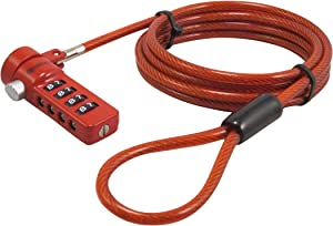 Sendt Red Notebook/Laptop Combination Lock Security Cable