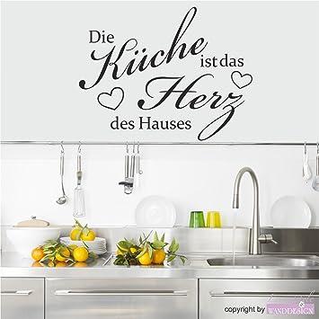 Wandtattoo Wandaufkleber Spruch Die Küche ist das Herz des ...