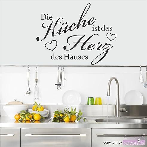 Wandtattoo Wandaufkleber Spruch Die Küche ist das Herz des Hauses ...