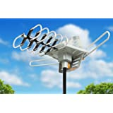 Sobetter HDTV Antenna Outdoor 150 Mile Long Range Amplified Digital Outdoor TV Antenna with Signals UHF/VHF/FM/Radio - 360°Rotation - High Performance Outdoor Antenna for TV with 33-Feet Coax Cable