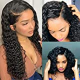 Brazilian Water Wave Curly Lace Front Wigs Glueless Lace Front Human Hair Wigs For Women Black Pre Plucked Lace Front Wigs 15