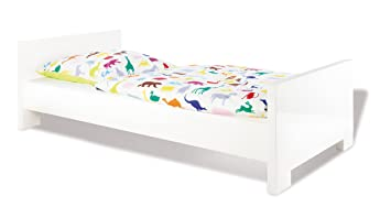 Pinolino Kinderbett Jugendbett Weiß Hochglanz