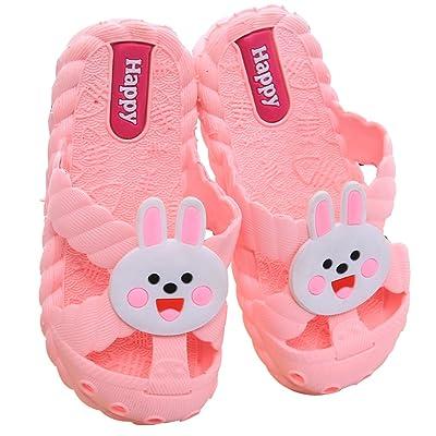 9c87b18ba6947c Blubi Toddler Little Kid Pink Rabbit Soft Bath Slipper Anti-Slip Bathroom  Pool Slides