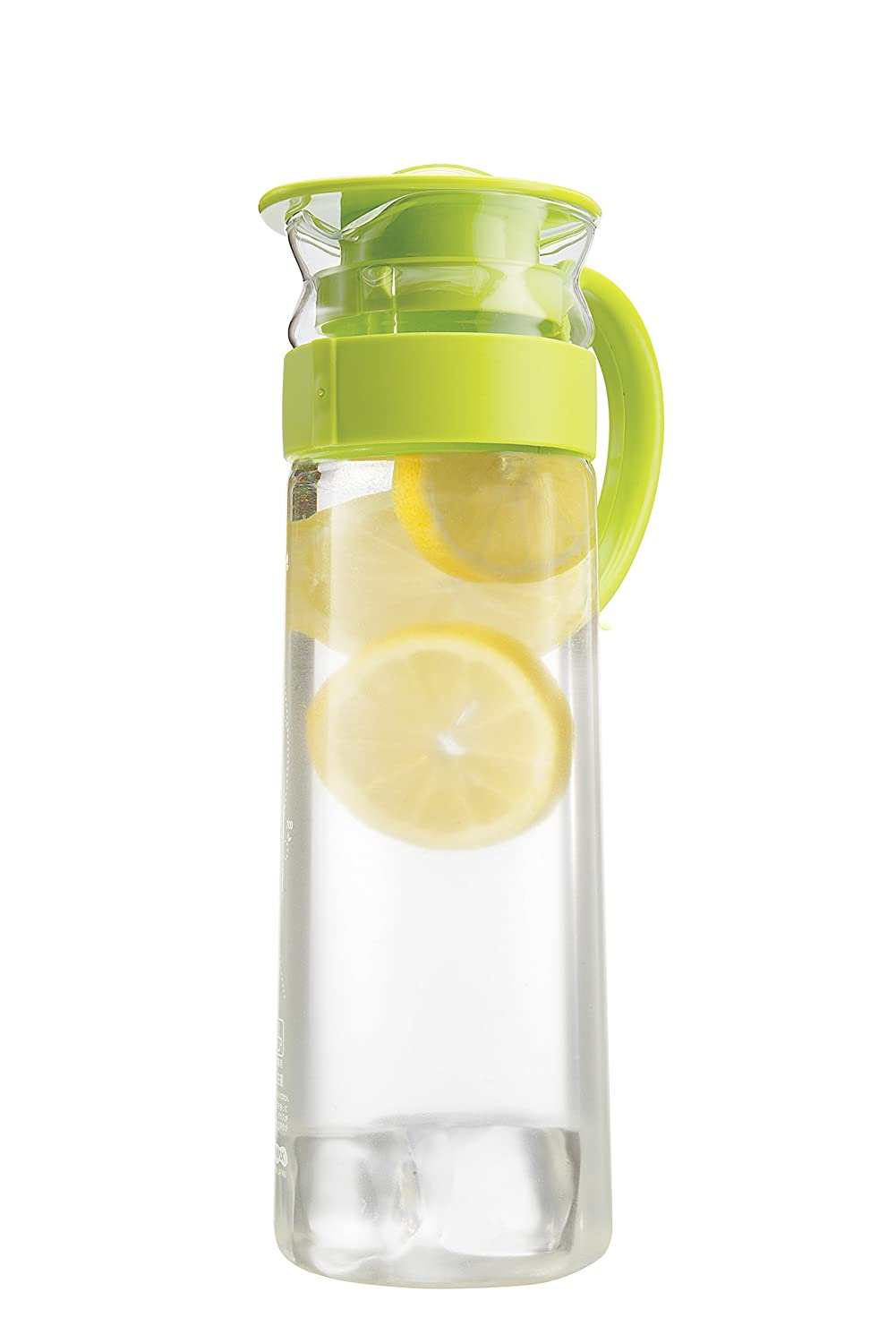 amazoncom  komax aqua glass water  juice pitcher with easy  - amazoncom  komax aqua glass water  juice pitcher with easy handle topour  green lid  bpa free  compact size  oz