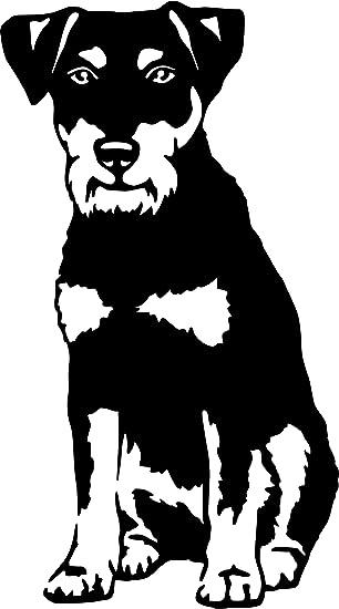 Amberdog Deutscher Jagdterrier Autoaufkleber Fensterfolie