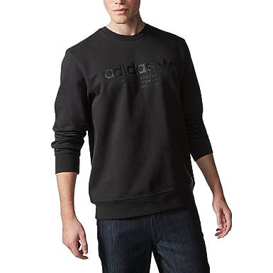 fd226841227a0 adidas Originals Men s Fashion Graphic Crew Neck Sweatshirt - Black ...