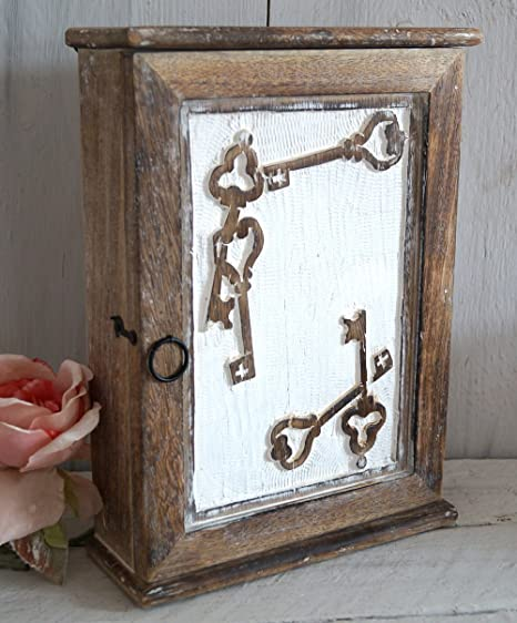 Wooden Key Box Key Cupboard Key Holder Wall Cabinet Antique Door Shabby  Vintage Retro Key Cabinet - Wooden Key Box Key Cupboard Key Holder Wall Cabinet Antique Door