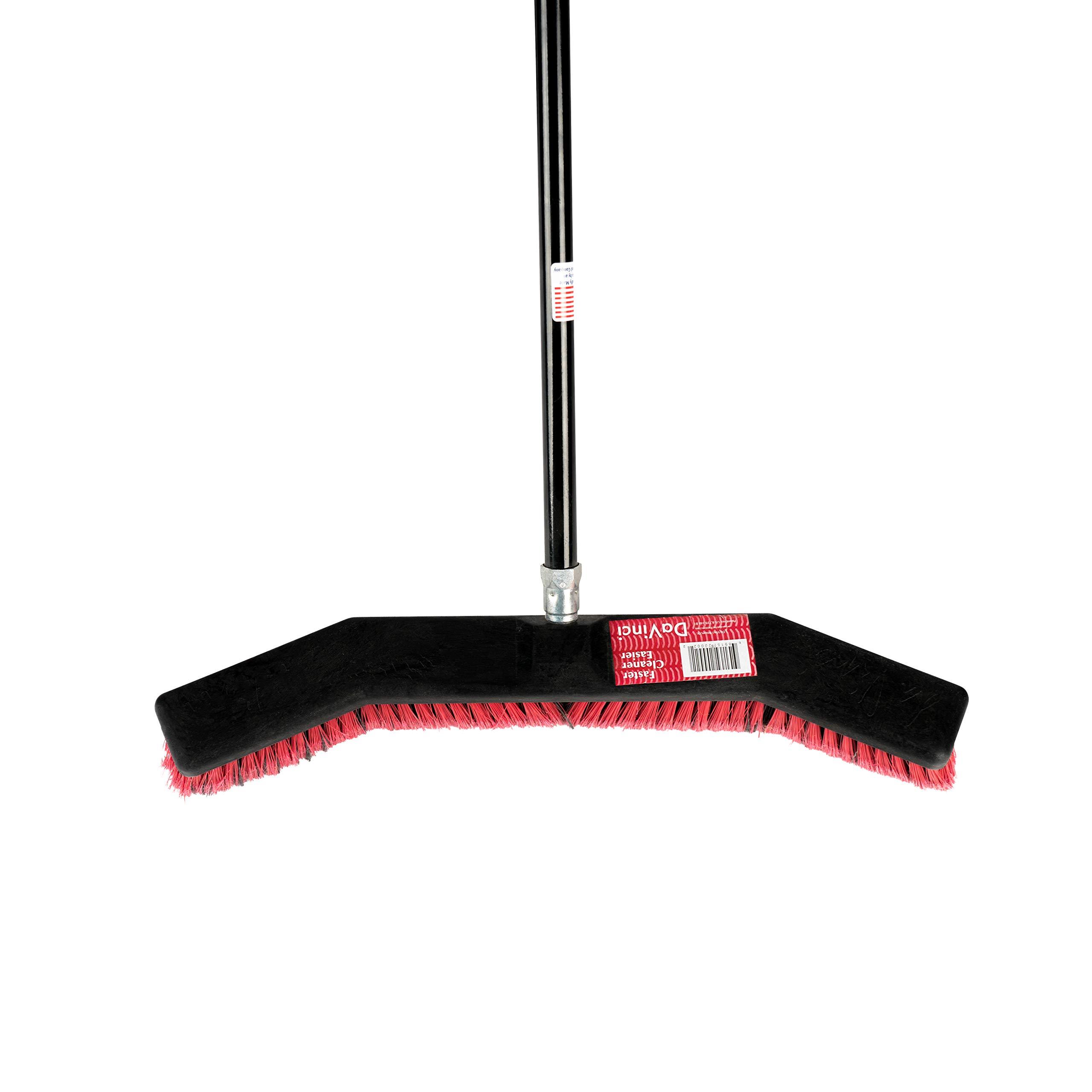 ROOT ASSASSIN Shop Broom/Push Broom, Keeps Debris Inside Broom, Best for Sweeping Kitchen Floors, Patios, Garages, Shops, Tile, Large Areas, and Wood Floors. Durable, Large, Light (Shop Broom) by ROOT ASSASSIN