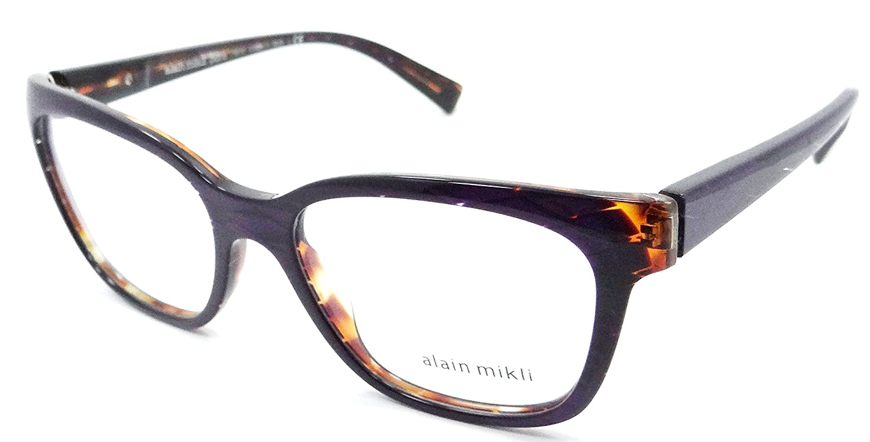 6bdba948ce Amazon.com  Alain Mikli Rx Eyeglasses Frames A03035 E012 53x17 Violet  Diamond Havana Italy  Clothing