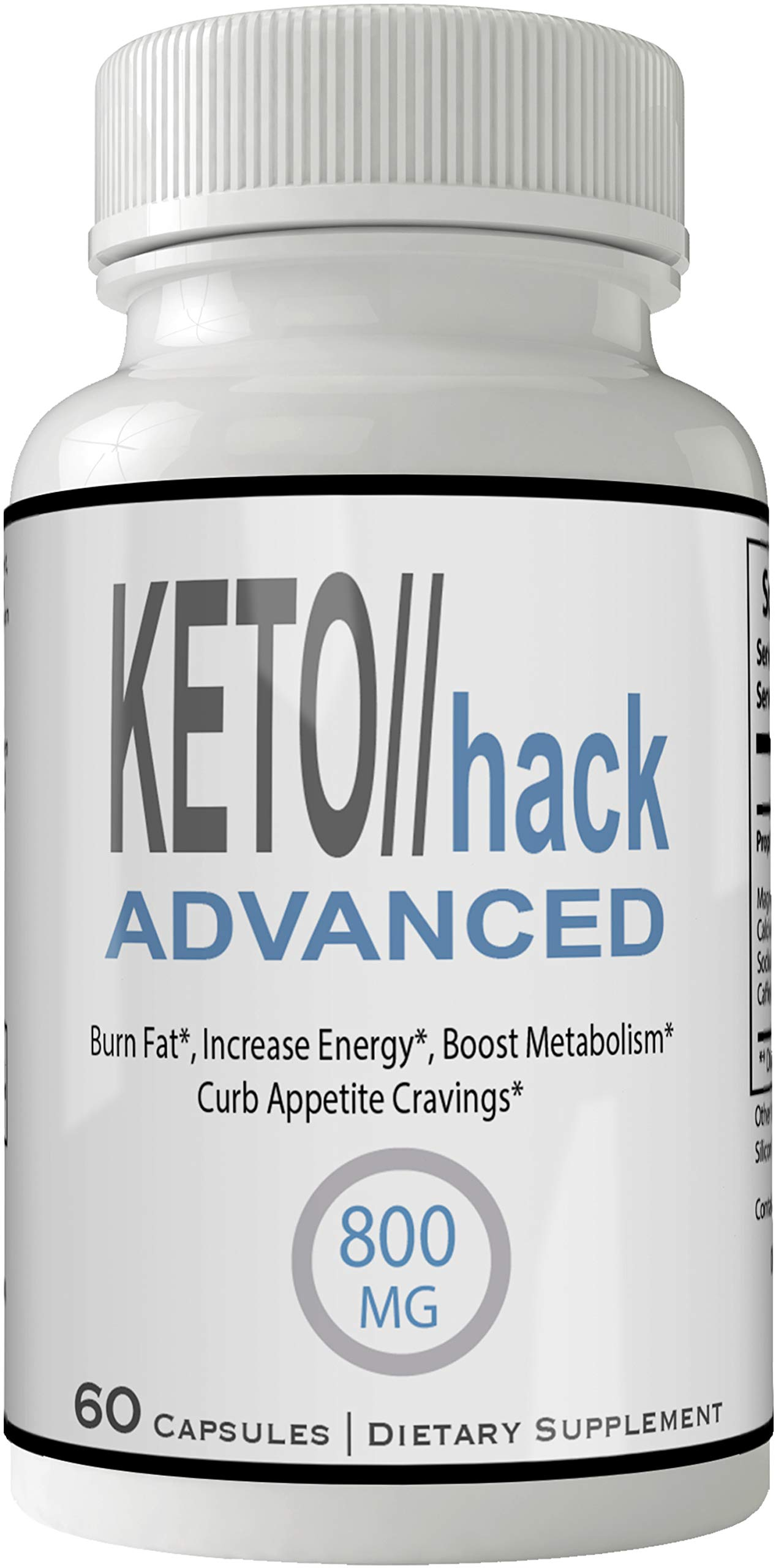 Keto Hack Advanced Capsules Weight Loss Pills Supplement, Appetite Suppressant with Ultra Advance Natural Ketogenic 800 mg Fast Formula with BHB Salts Ketone Diet Boost Metabolism