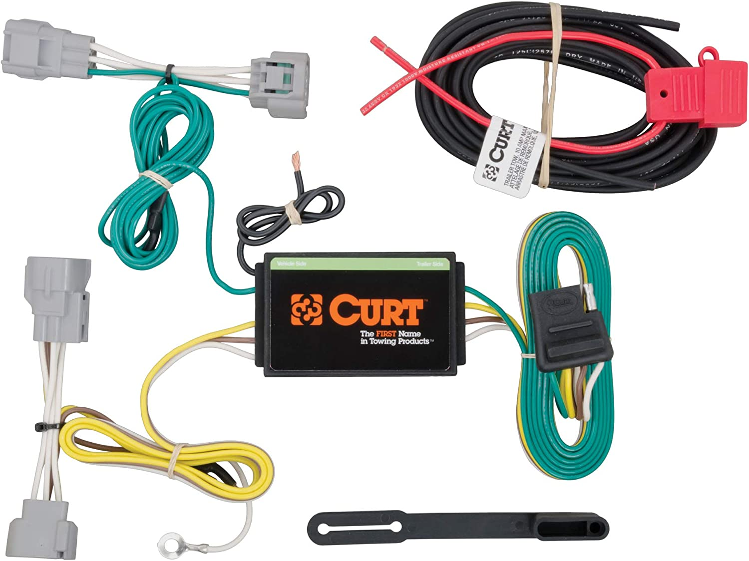 [DIAGRAM_34OR]  Amazon.com: CURT 56208 Vehicle-Side Custom 4-Pin Trailer Wiring Harness for  Select Jeep Cherokee: Automotive | 2007 Jeep Grand Cherokee Trailer Wiring |  | Amazon.com