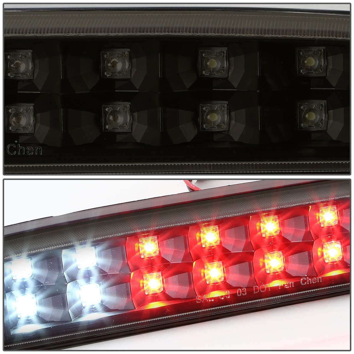 DNA Motoring 3BL-FSPRAN99-LED-CH Third Brake Light