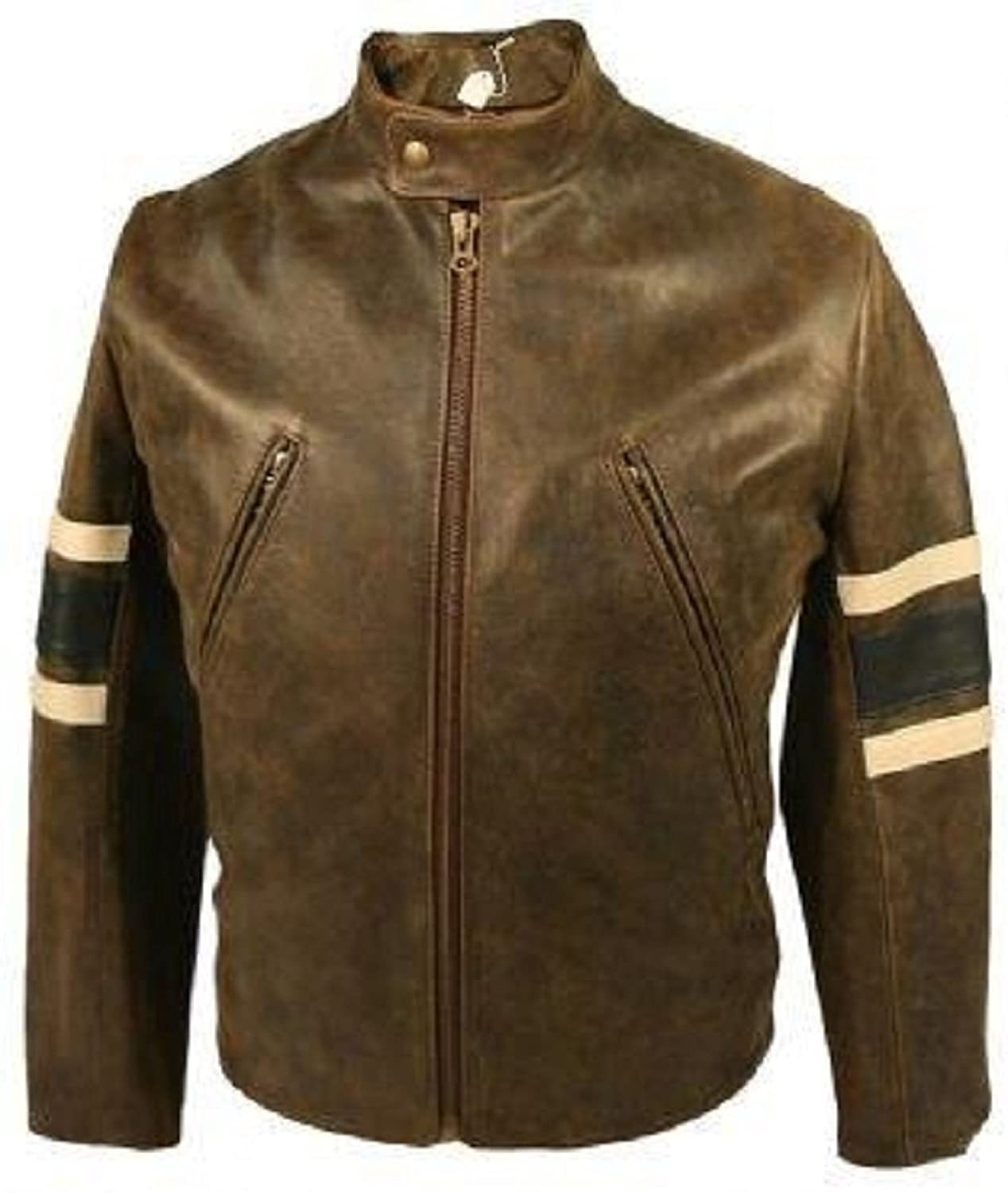 Mens Xmen Distressed Leather Jacket