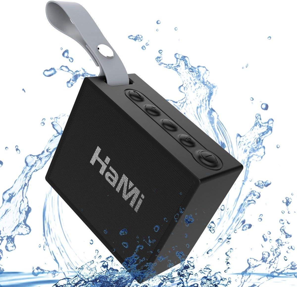 WEILIGU IP66 Waterproof Bluetooth Speaker with 12-Hour Playtime, 66-Foot Bluetooth Range Built-in Mic Portable Wireless Bluetooth 4.2 Speaker with Selfie Mic