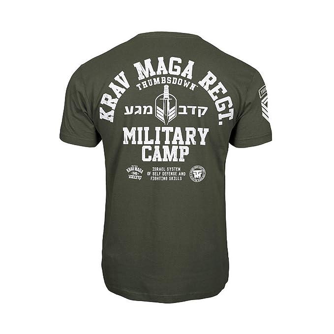 Pulgares downkrav Maga Camiseta Militar Campamento. MMA. Gimnasio Entrenamiento. Marcial Artes Informal cbXxO