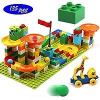 Klobroz 135 Piece PCS Roller Coaster Building Blocks Kit