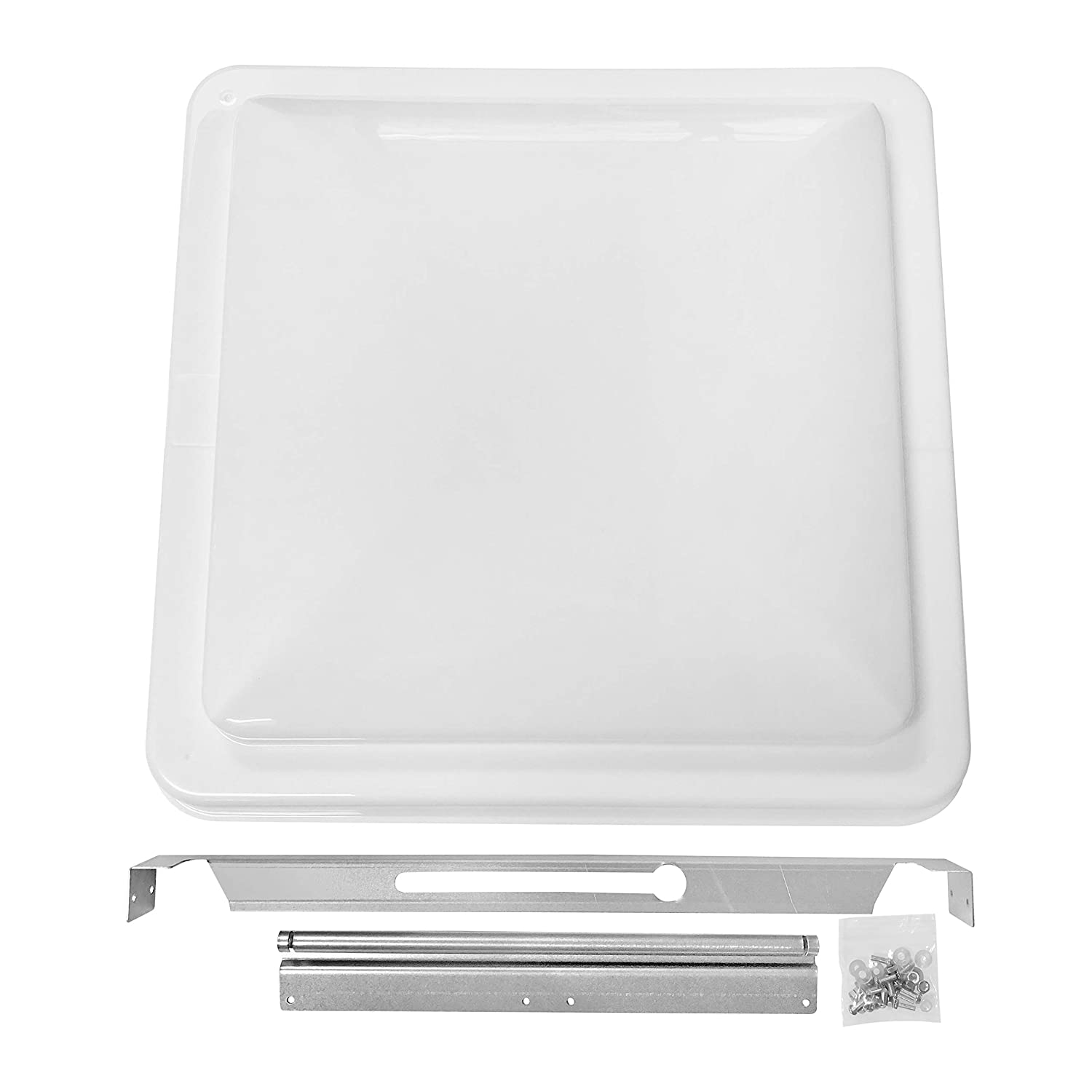 "Camp'N 14"" Universal RV, Trailer, Camper, Motorhome Roof Vent Cover - Vent Lid Replacement (White 1 Pack)"