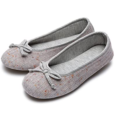 Womens Women's Bow Design Ballerina Ballet Flats Comfortable Padded Shoes Slip Ons No Taxes Size 36