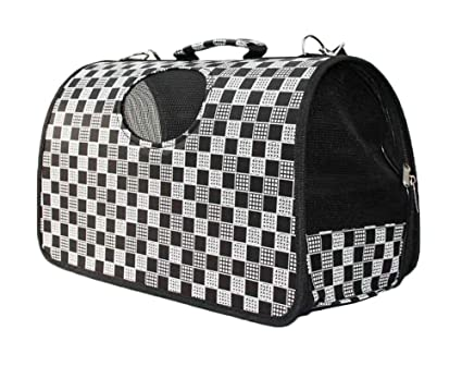 1437ab272fb228 Image Unavailable. Image not available for. Color: Fashion Dog Cat Pet  Carrier Bags Travel Mesh Tote Handbag