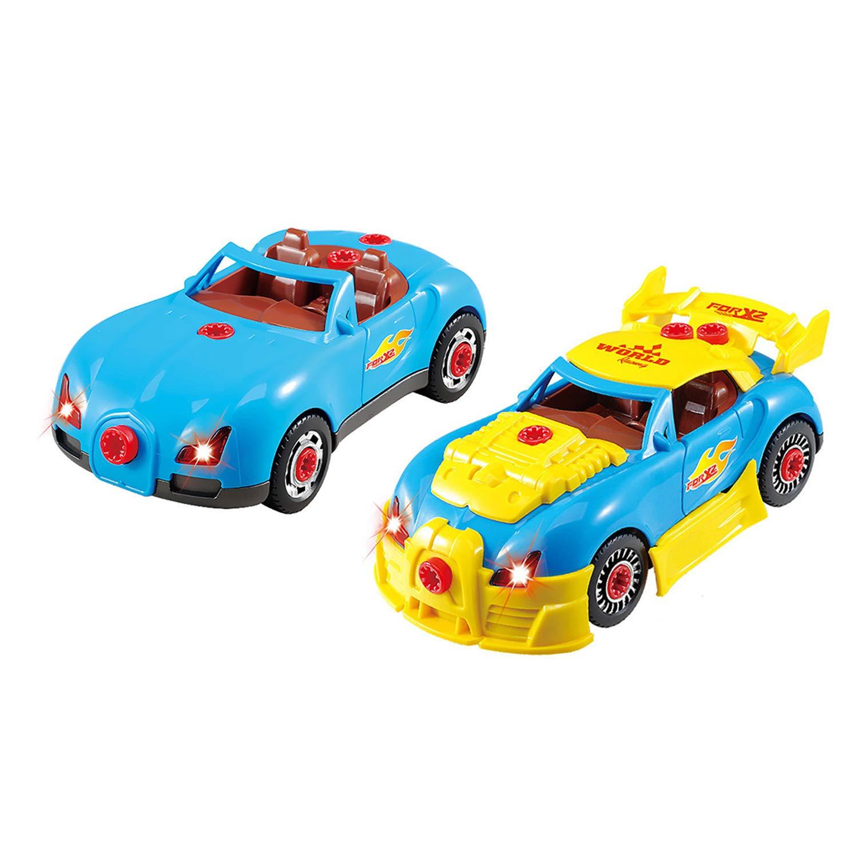 Desarrollo de IQ para ni/ños ZLFT Juego de Juguete de Bricolaje Desmontable Racing Car Juguetes educativos para ni/ños y ni/ñas Regalos tempranos para ni/ños Kit de Juguete de construcci/ón para ni/ños