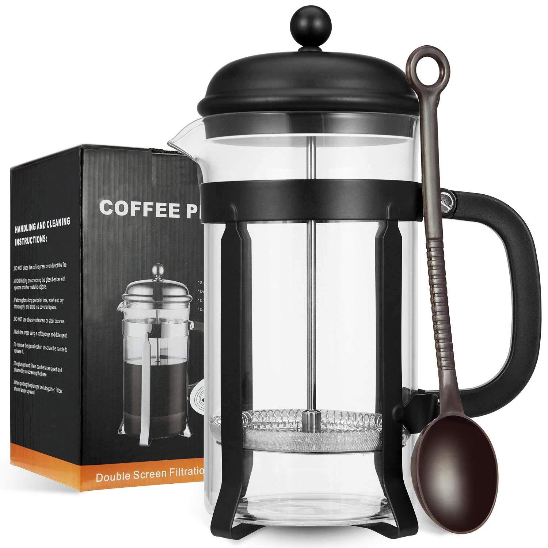 MeetU FDA 304 - Cafetera de acero inoxidable sin BPA, para ...