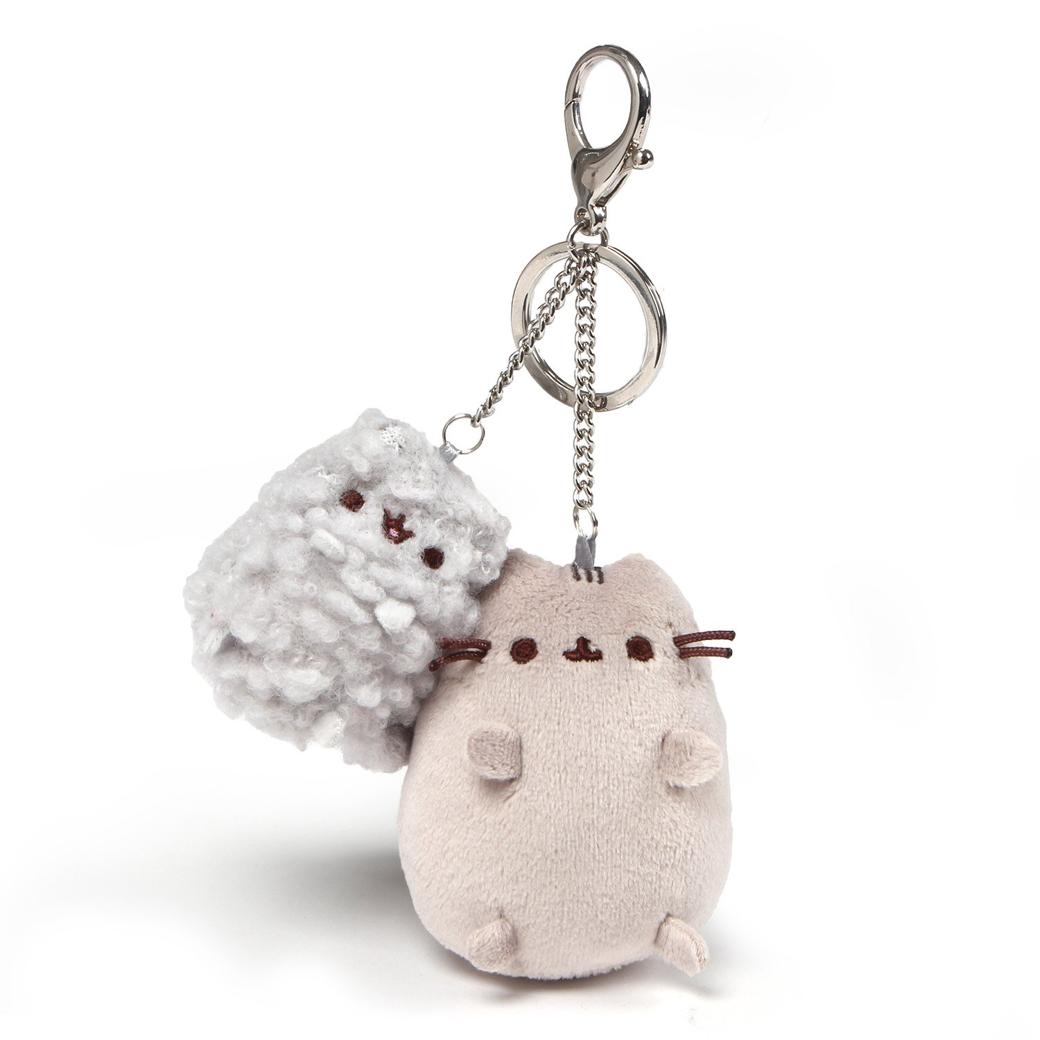 GUND Pusheen and Stormy Plush Deluxe Keychain Clip, Gray, 4.5