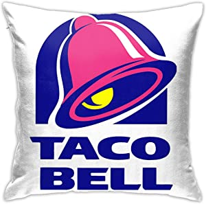 Hidreamaa Taco Bell Throw Pillow Covers Decorative Square Outdoor Cushion Cover Home Decor Pillow Case