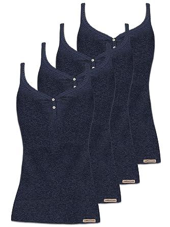 36-46 2er Pack Damen Unterhemd mit Spaghettiträgern der Marke comazo earth Gr