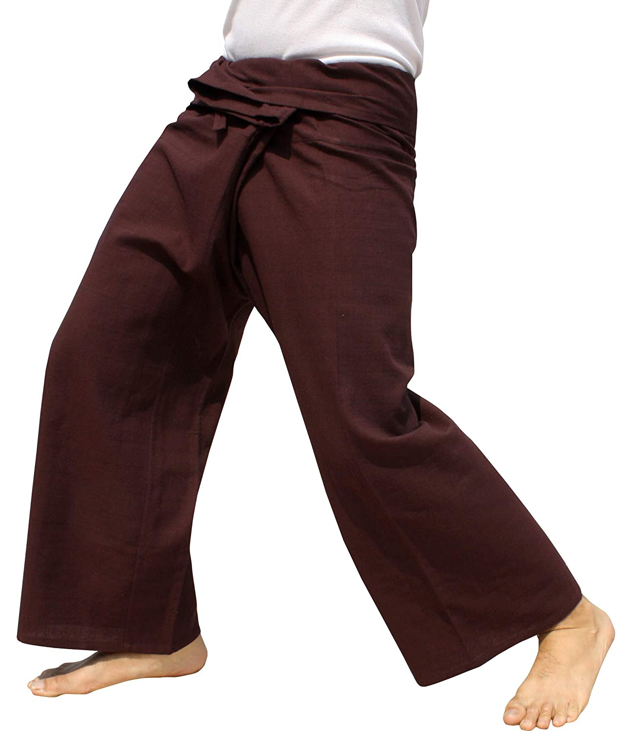 Raan Pah Muang PANTS レディース B07HGVQXJ3 Dark Sienna Brown Medium