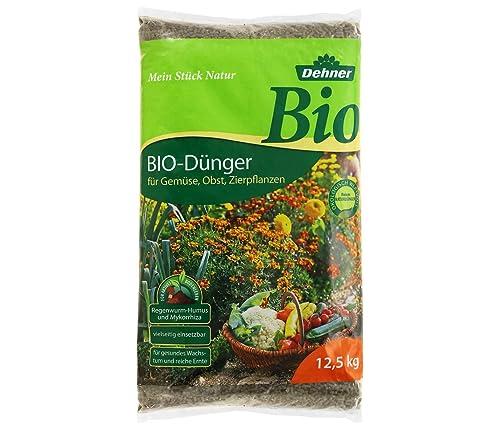 Dehner Bio Dünger, für Gemüse, Obst und Zierpflanzen, 12.5 kg, für ...