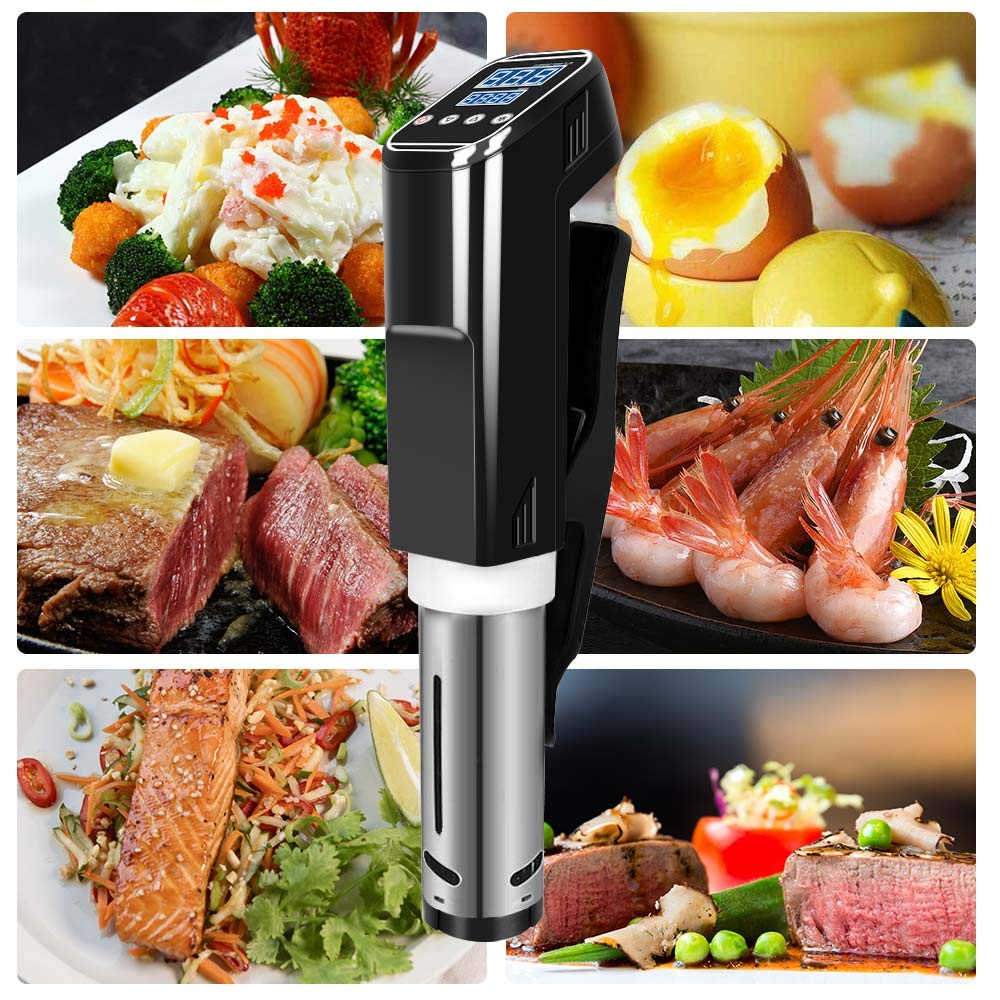 Sous Vide Cooker Accurate Immersion Cooker,1000W,Easy To Use Temperature and Time Settings by Fofashion (Image #7)