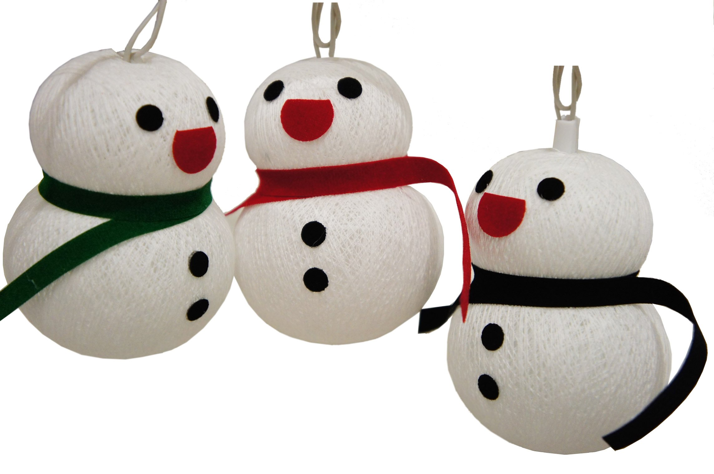20 Yarn Ball Snowman Collections Party Holiday Birthday New Year Christmas Decoration Decor Patio Kid Bedroom Top Tree Garland Garden Yard Wall Ceilling Ornament Hanging Indoor Outdoor Snowflakes