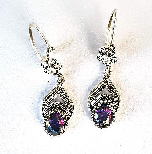 Sterling Silver February Birthstone Earrings February Birthstone Jewelry Amethyst Jewelry February Earrings February Birthday Gift