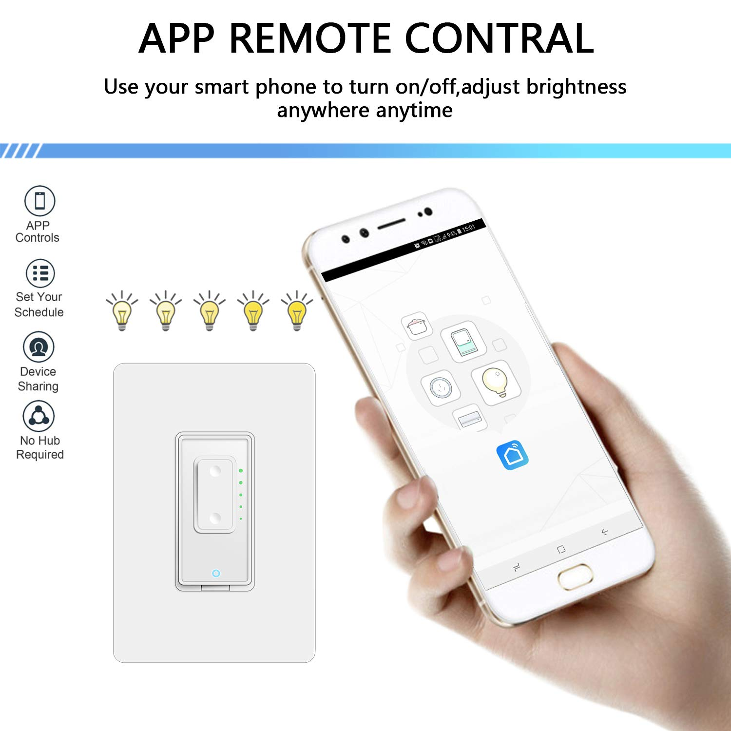Details about Smart Dimmer Switch by Martin Jerry | SmartLife App, Mains  Dimming ONLY,