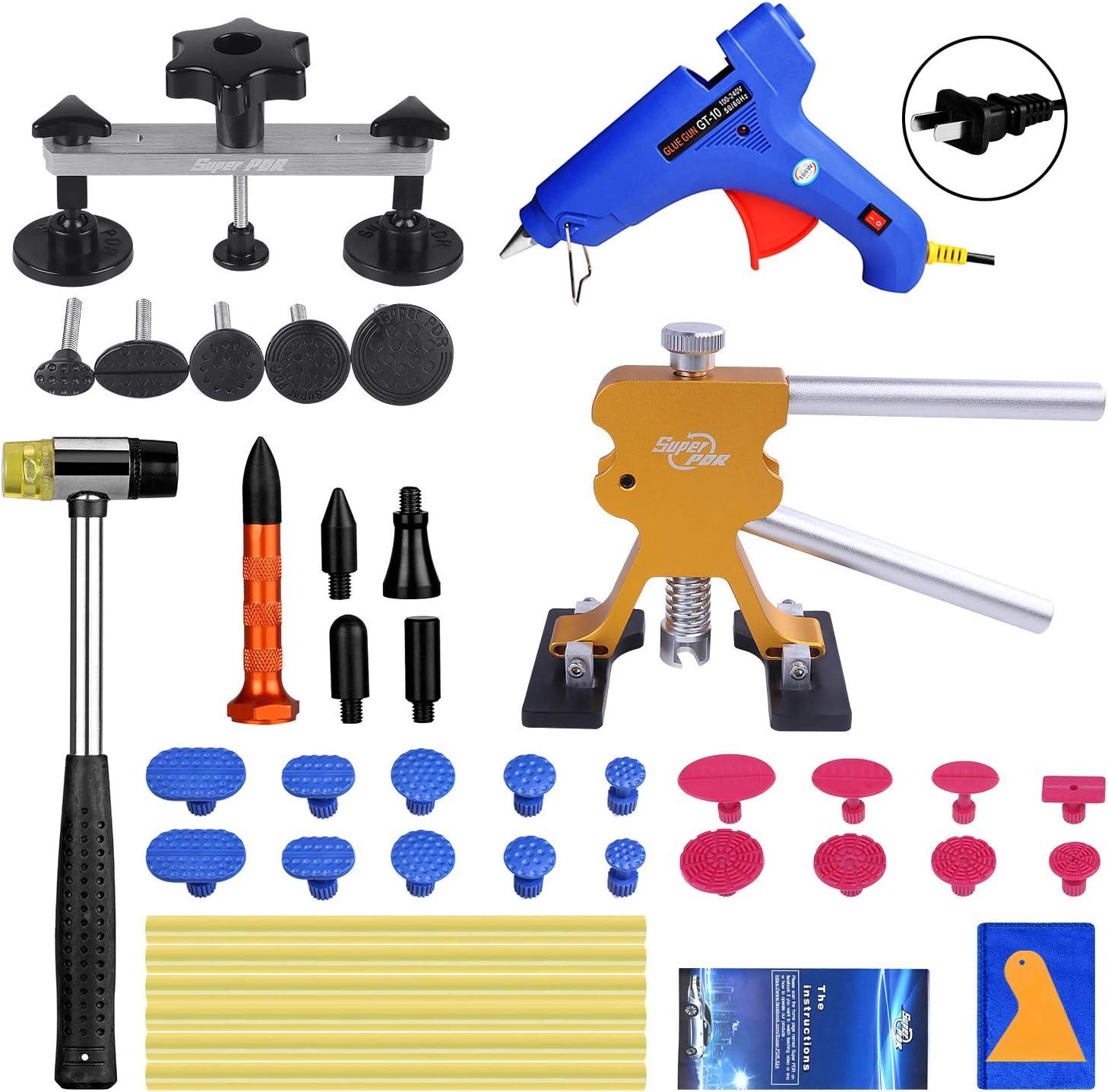 Super PDR Paintless Dent Repair (PDR Tool) Kit 42Pcs Car Dent Puller Removal Dent Remover Kit